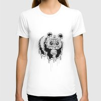 Choked Panda Womens Fitted Tee White SMALL