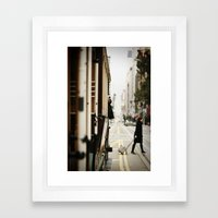 Cable Car Crossing Framed Art Print