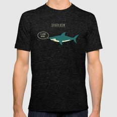 Sharkasm Mens Fitted Tee Tri-Black SMALL