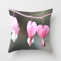 Bleeding Love Throw Pillow
