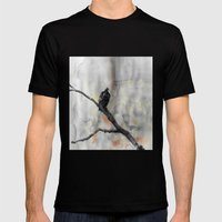 Perched Vulture Mens Fitted Tee Black SMALL
