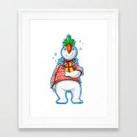 Your Neighbour Snowman Framed Art Print