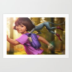 The Little Explorer Art Print