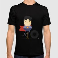 My Super Hero! Mens Fitted Tee Black SMALL