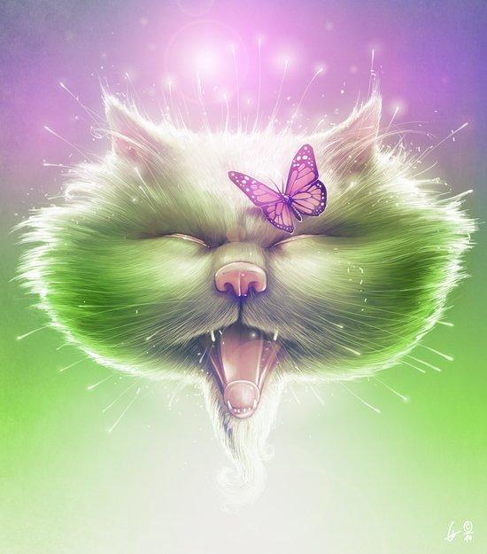 Kitty: The Monarch Art Print