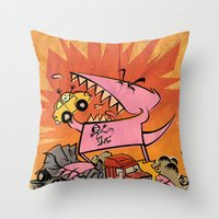 Dennis Dinosaurs's Delig… Throw Pillow