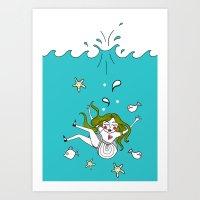 Dive In! Art Print