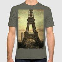 Mon Paris - La Tour Eiffel Mens Fitted Tee Lieutenant SMALL