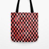 Black & Red Tote Bag