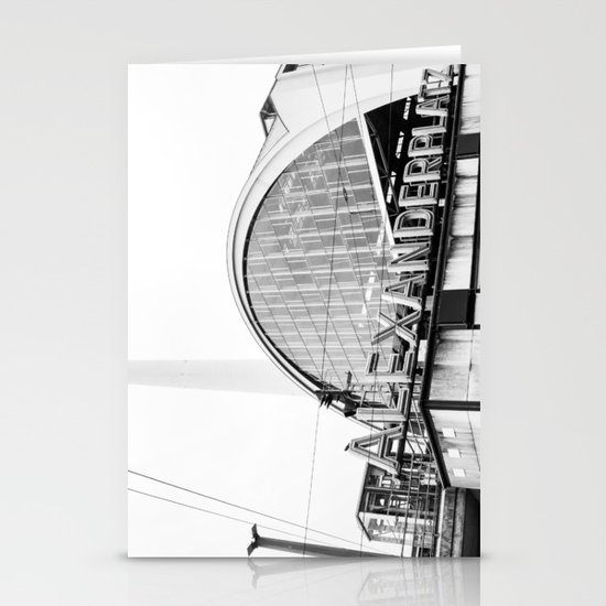 Berlin Alexandraplatz Stationery Card