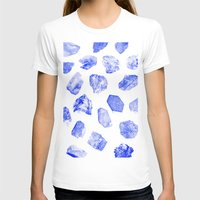 HEARTS Womens Fitted Tee White SMALL