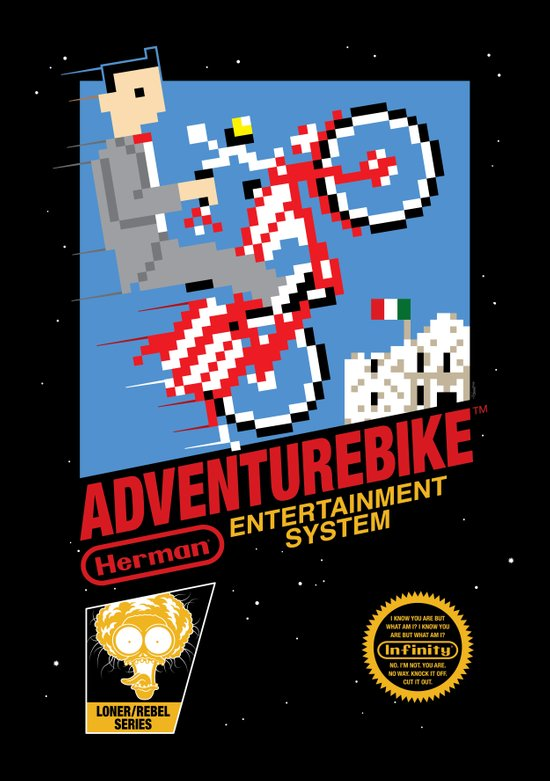 Adventurebike Art Print