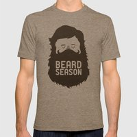 Beard Season Mens Fitted Tee Tri-Coffee SMALL