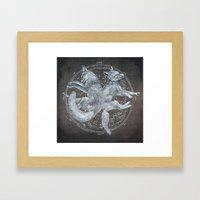 The White Foxes Framed Art Print
