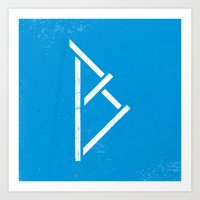 Letter B - Letter A Day Project Art Print