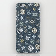 night time snow  iPhone & iPod Skin