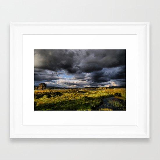 Rannoch Moor, Scotland Framed Art Print