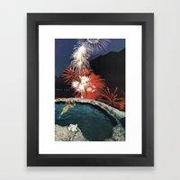 demos (not sleep) Framed Art Print