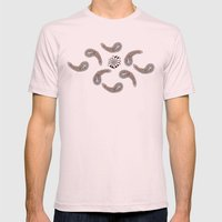 Lilypads & Paisleys Mens Fitted Tee Light Pink SMALL
