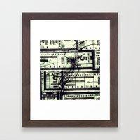 Muni Breaks Mixed Media … Framed Art Print