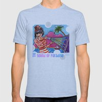The Sound of Paradise Mens Fitted Tee Athletic Blue SMALL