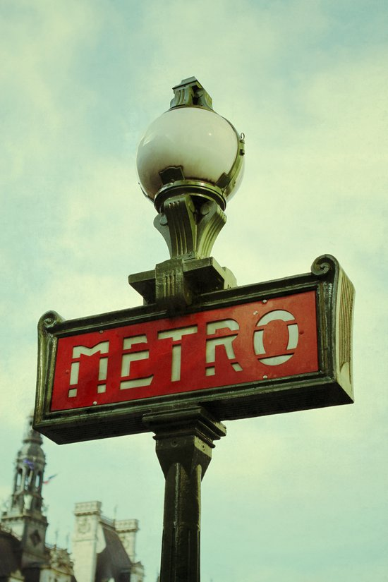 Riding on the Metro Art Print