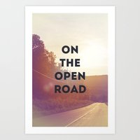On The Open Road. Art Print