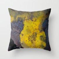 Abstract  Metallic Throw Pillow