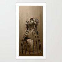 The cage / La cage Art Print