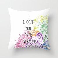 I Choose You Over Everyone Doodle Throw Pillow