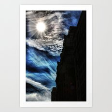 Ice Fire In The City Art Print