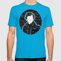 Sherlock BBC: Type Mens Fitted Tee Teal SMALL