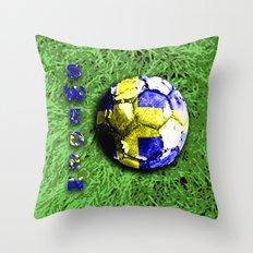 Old football (Sweden) Throw Pillow