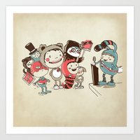 Costume Party Art Print