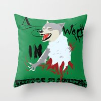 Wolf In Sheep's Clothing Throw Pillow