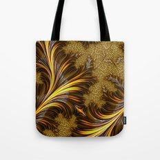 Golden Fronds Tote Bag