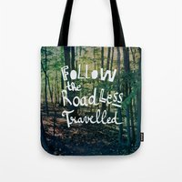 Follow The Road Less Travelled Tote Bag