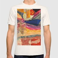 Collage Love - Asian Tie Mens Fitted Tee Natural SMALL