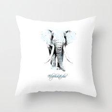 elephantidae Throw Pillow