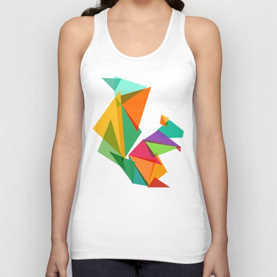 Fractal geometric Squirrel Unisex Tank Top