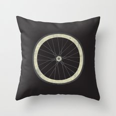 Stay True - Fixie Bike Wheel Throw Pillow