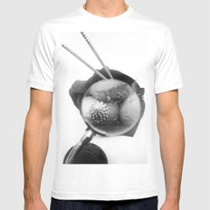 shells White Mens Fitted Tee SMALL