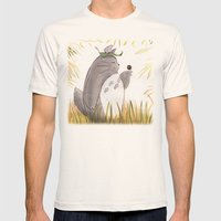 Silent Guardian Mens Fitted Tee Natural SMALL