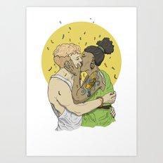 Making out no1 Art Print