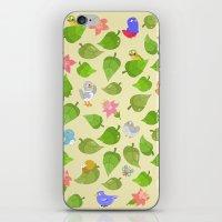 birds&leaves iPhone & iPod Skin