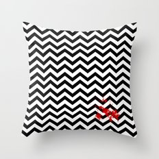 Black Lodge Dreams (Blood On The Red Room Floor) Throw Pillow
