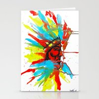 native american Stationery Cards featuring Native American by ART HOLES