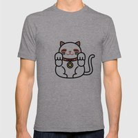 Cats. Mens Fitted Tee Athletic Grey SMALL