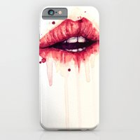 lips iPhone & iPod Cases featuring Lips by Jenny Viljaniemi