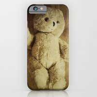 iPhone Cases featuring Old Teddy Bear by Victoria Herrera